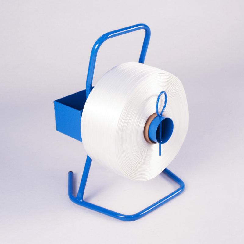 Abrollgerät für Textil - Polyester Umreifungsband mit 76 mm-Kern