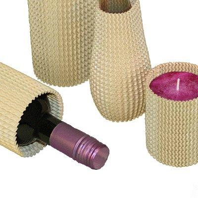 Flaschenhülsen aus Stretchwellpappe 340 x 150 mm braun