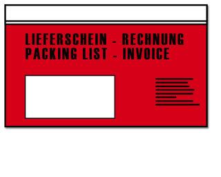 Dokumententaschen Din Lang, bedruckt, 1.000 Stück