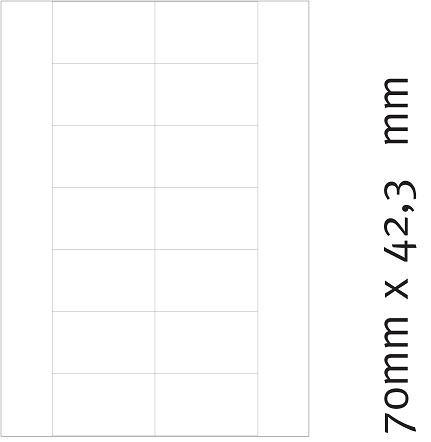Etiketten 70 x 42,3 mm