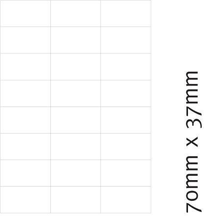 Etiketten 70 x 37 mm