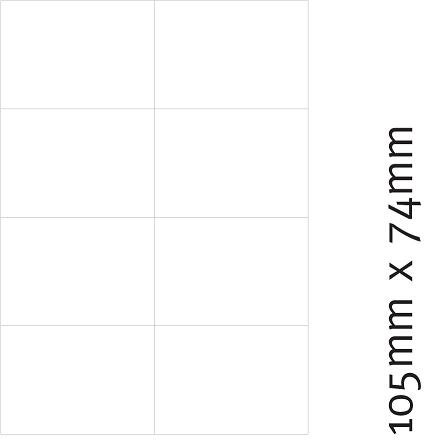 Etiketten 105 x 74 mm