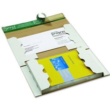 DVD Mailer aus weißer Wellpappe