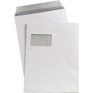 Versandtasche C4 mit Fenster, weiß