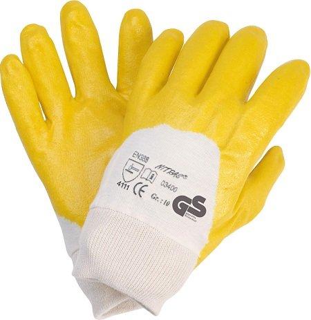 Nitril Handschuhe, gelb, Gr. 9